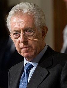 Il Presidente del Consiglio incaricato Mario Monti