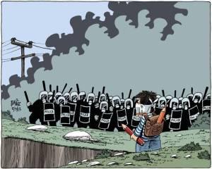 Σκίτσο του Βαγγέλη Παπαβασιλείου