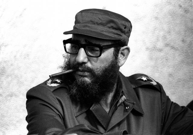 File photo of then Cuban Prime Minister Fidel Castro attending manoeuvres during the 19th anniversary of his and his fellow revolutionaries arrival on the yacht Granma, in Havana